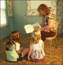Cindi with children